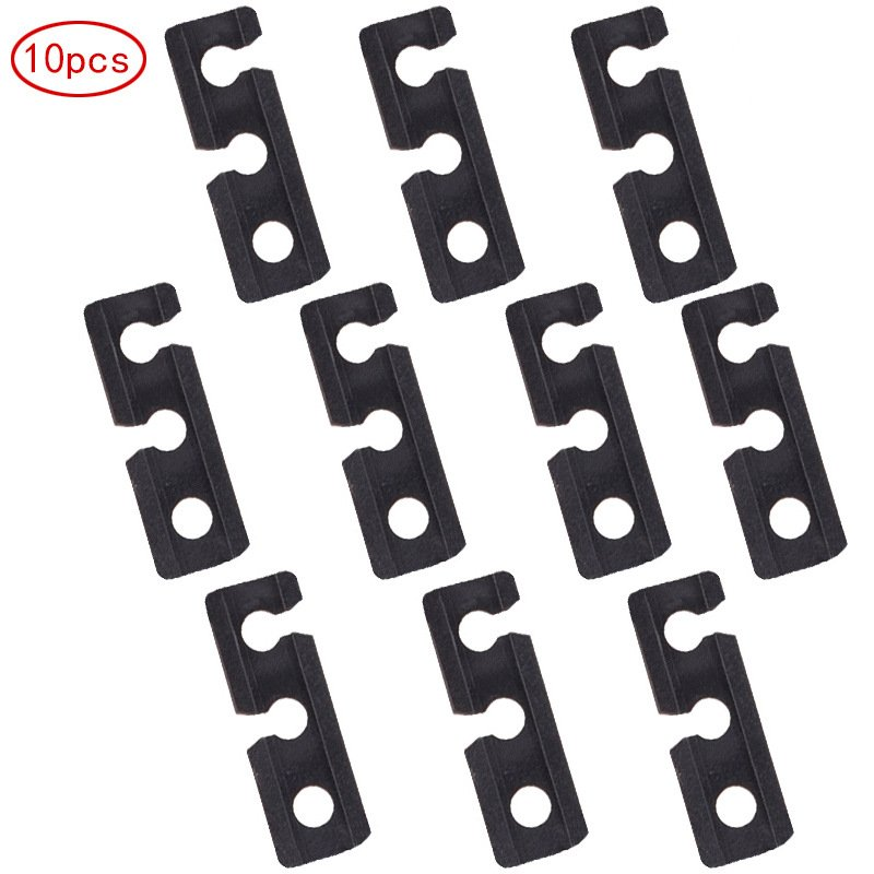 10pcs Plastic Tent Wind Rope Adjust Buckle Outdoor Camping Wind Rope Stopper Awning Wigwam Adjust Buckles Small Tent Accessories black_1.1*0.6*3.3cm