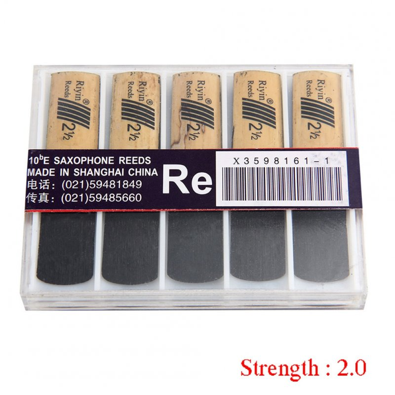 10pcs Saxophone Reed Set with Strength 1.5/2.0/2.5/3.0/3.5/4.0 for Alto Sax Reed  Hardness 2.0
