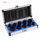 10pcs/Set Damaged Bolts Nuts Screws Remover Extractor Removal Tools Set Threading Tool Kit Black Nuts ;