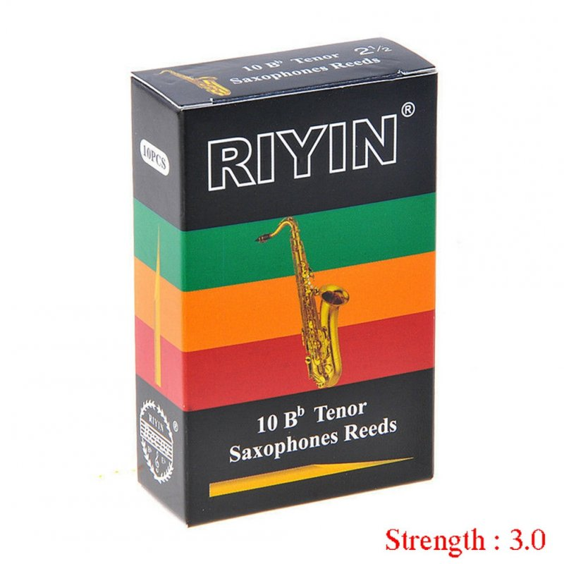 10pcs Tenor Saxophone Reeds Bb Tone Strength 1.5 2.0 2.5 3.0 3.5 4.0 Sax Instrument Reed Hardness 3.0