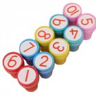 10pcs/set 1-10 Numbers Rubber Stamp Set