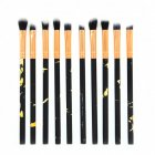 10pcs/set Marbling Handle Makeup Brushes Face Eyeshadow Foudation Eye MakeUp Brushes Tools