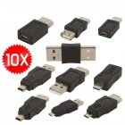 10pcs/set OTG USB Male to Female Micro USB Micro Converter Adapter Converter OCT30