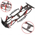 11.2 inch 285mm Wheelbase Metal Chassis Frame with Front Bumper for 1/10 RC Crawler Car D90 default