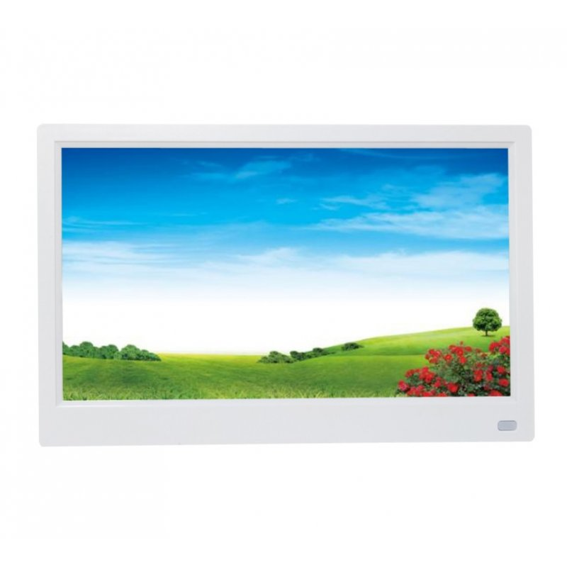 11.6 inches HD LED Photo Frame Digital Photo Frame Album Player with Motion Sensor White British regulations