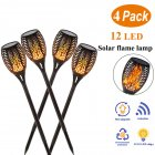 112 LED Solar Dynamic Simulation Flame Light Waterproof Garden Landscape Decoration Lawn Light 12LED mini version