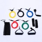 11PCS/Set Pull Rope Set Elastic Tube Resistance Training Device Fitness Equipment Exercise Kit Yellow red blue black green 5 color rope set_11pcs/set