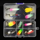 11pcs/31 pcs Fishing Lure Kit Colorful Sequins Lure With Hooks Bait Set Metal Lure Tackle Hard Bait N30# 11 pieces boxed_Colorful sequins