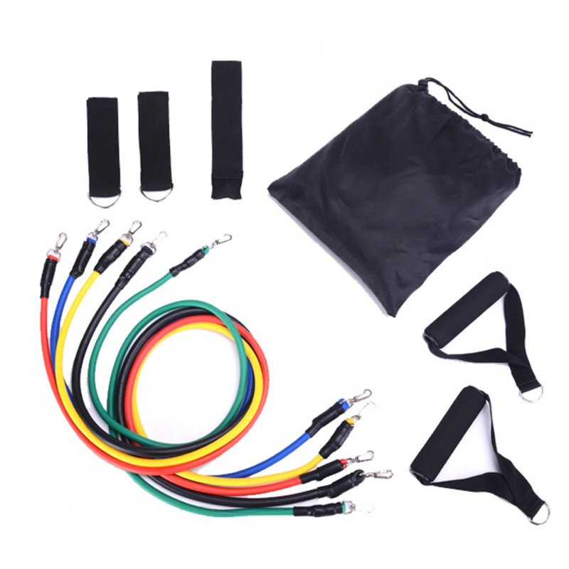 11pcs Portable Exercise Resistance Band Set Exercise Stretch Fitness Home Set