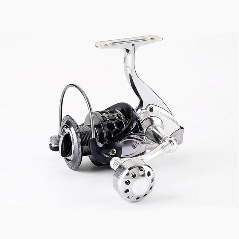 12+1 Axis Anti-seawater Fishing Wheel Full Metal Fishing Wheel Spinning Fishing Line Wheel Black gray