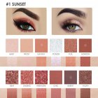 12 Color Eyeshadow Pearlescent Matte Eye Shadow FA50   Waterproof Eyeshadow No Fly and No Faint