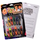 12 Colors Non-toxic Washable Body Painting Face Crayon as shown