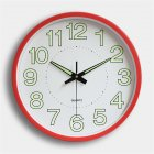 12 Inch  30cm Luminous Wall Clock Silent Quartz Clock For  Bedroom Living Room red