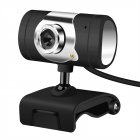 12 Megapixel HD USB2.0 Web Camera With Clip-On Microphone For PC Computer black