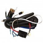 12 V 80A Car Horn Relay Wiring Harness Kit For Grille Mount Blast Tone Horns black