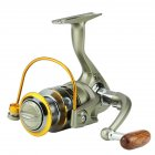 12-axis Metal Head Fishing Reel Spinning Wheel Reel Wooden Rocker Arm Sea Fishing Equipment LC4000