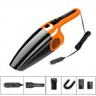 120W 3600mbar Car Vacuum Cleaner Wet And Dry dual-use Vacuum Cleaner Handheld 12V Car Vacuum Cleaner Straight Orange