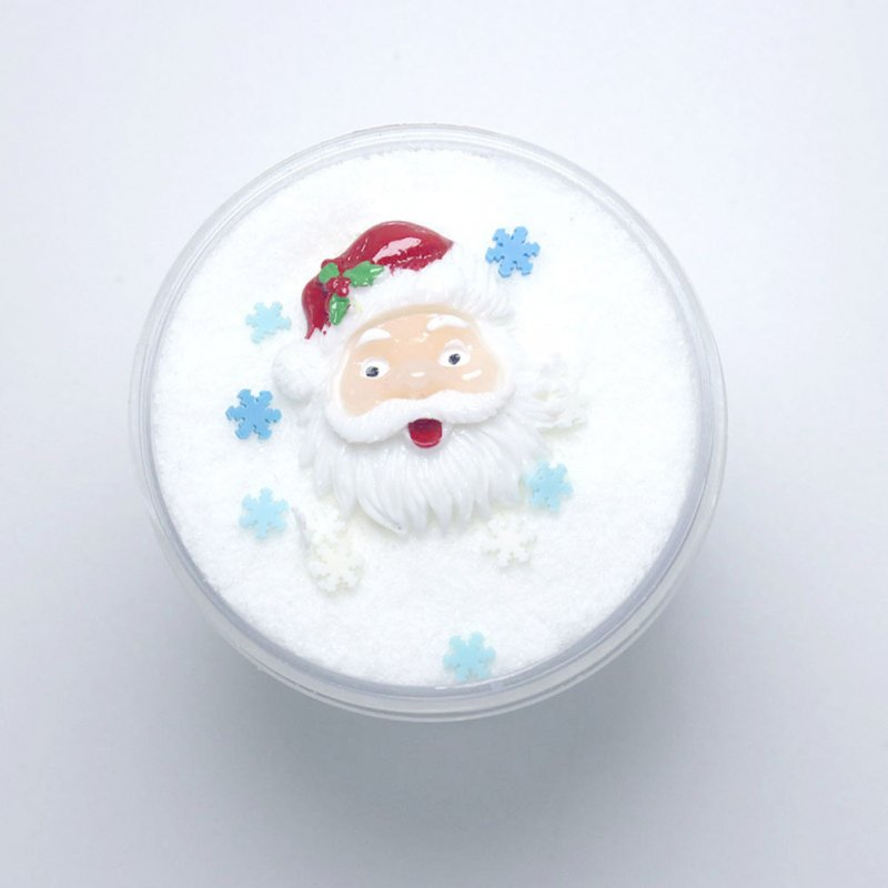 120ml Christmas Cloud Slime Children DIY Fluffy Playdough Stress Relief Educational Toy Gift for Kids