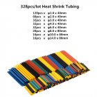 127/328/530Pcs Heat Shrink Tubing