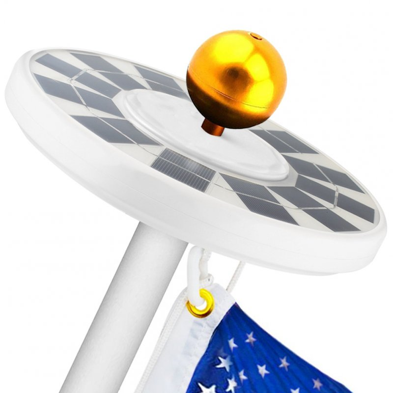 128LEDs Solar Powered Flag Pole Light Flagpole Waterproof Downlight for Courtyard Solar 128LED Flagpole Light
