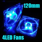 12CM PC Computer Fan 4 LED Light Fan PC CPU Cooling Cooler Fan for Computer Case CPU Cooler Radiator  blue