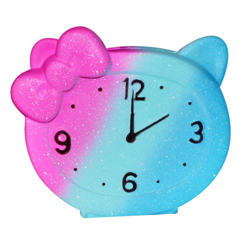 12CM Slow Rebound Alarm CLock Starry Sky Toy Decompression Toy Kids Stress Relieve Toy Multicolor_11.5*12CM