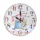12Inches 30CM Retro Wooden Quartz Movement Wall Clock for Sitting Room Bar Decor