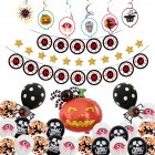 12Inches Scary Eye Pendant Flag String Balloon Halloween Party Decor Style 3