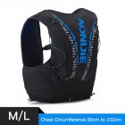 12L Backpack Vest Bag Soft Water Bladder Flask For Hiking Trail Running Marathon Race Black and blue M/L