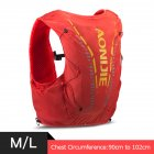 12L Backpack Vest Bag Soft Water Bladder Flask For Hiking Trail Running Marathon Race Orange Red M/L