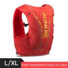 12L Backpack Vest Bag Soft Water Bladder Flask For Hiking Trail Running Marathon Race Orange Red L/XL