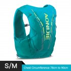 12L Backpack Vest Bag Soft Water Bladder Flask For Hiking Trail Running Marathon Race Mint Green S/M