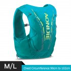 12L Backpack Vest Bag Soft Water Bladder Flask For Hiking Trail Running Marathon Race Mint Green M/L