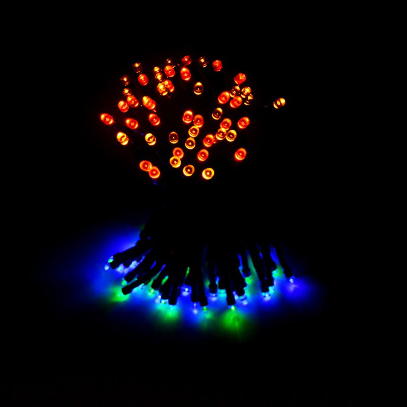 12M 100 LEDs  String Light with Solar Strip Night Light Lamp Fairy Lights for Outdoor Christmas Trees Wedding Garden color