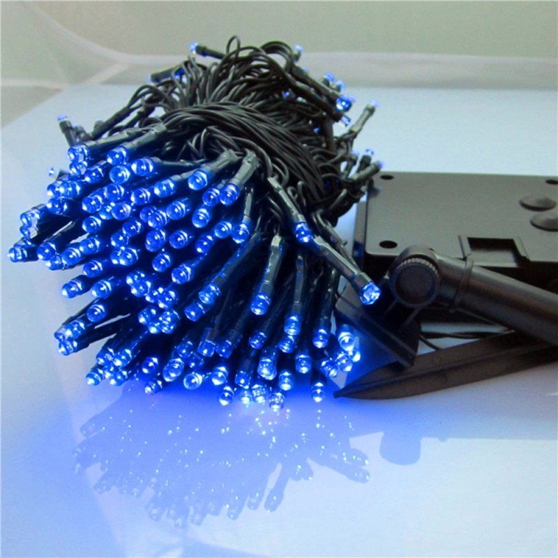 12M/22M 100LEDs/200LEDs Waterproof Solar Powered String Light for Deocration Blue light_22 meters 200 LED_(ME0003603)