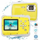 LCD Display Waterproof Action Camera - Yellow