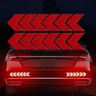 12PCS Big Car Night Warning Reflective Sticker Scratch Modified Electric Motorcycle Body Sticker  red