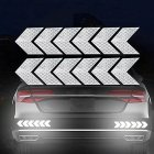 12PCS Big Car Night Warning Reflective Sticker Scratch Modified Electric Motorcycle Body Sticker  White