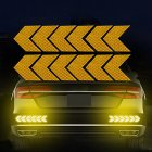 12PCS Big Car Night Warning Reflective Sticker Scratch Modified Electric Motorcycle Body Sticker  yellow