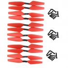 12PCS Propeller for MJX Bugs 4W B4W EX3 D88 HS550 Quadcopter Red Blade Brushless Drone Accessories red