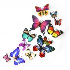 12Pcs 3D Colorful Magnetic Butterflies with Adhesive Wall Sticker Home Decor 12pcs