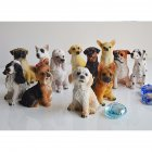 12Pcs Lovely Dog Shape Resin Crafts Landscape Ornaments 12pcs
