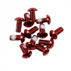12Pcs M5x10mm Road Mountain Bike Bicycle Disc brakes Rotor Screw Bolts nuts Torx T25 Head Bicycle Brake Disc Bolts Screw Red one card   12