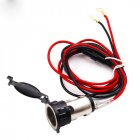 12V 24V 120W Cigarette Lighter Waterproof Power Motorcycle Boat Car Cigarette Lighter Socket Plug with 60cm Wire