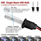 12V 55W HID Xenon Replacement Headlights Set 4300K 5000K 6000K 8000K 10000K 12000K Daylight