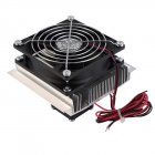 12V 6A Thermoelectric Peltier Refrigeration Cooler Fan Cooling System Kit 6W (Black Silver) 60W