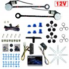 12V Car Auto Universal 2-Doors Electric Power Window Kits Switches Harness As shown