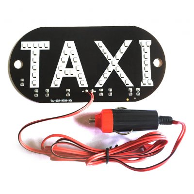12V Taxi Cab Windscreen Windshield Sign LED Light Lamp Bulb with Suction Disc Cigarette lighter Red