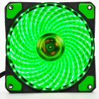 12cm PC Computer Clear Case Quad 33 LED Light CPU Cooling Fan Heatsink green