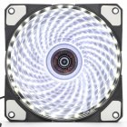 12cm PC Computer Clear Case Quad 33 LED Light CPU Cooling Fan Heatsink white